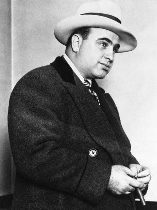 Портрет гангстера Аль Капоне, около 1920-х годов.