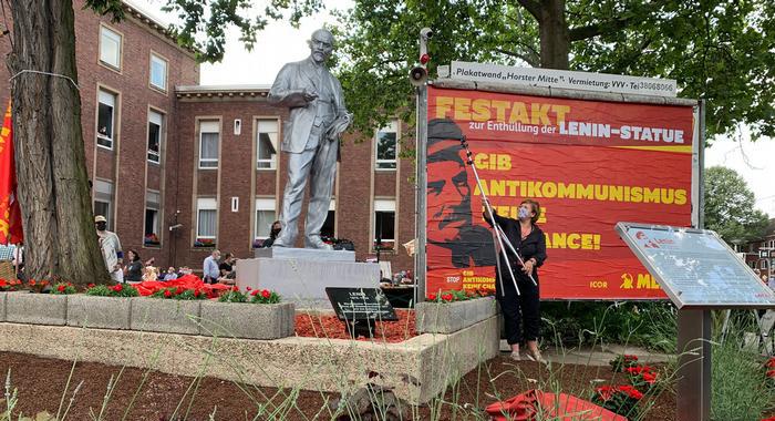 Памятник Владимиру Ильичу Ленину 20 июня установили марксисты в Гельзенкирхене, западная Германия.