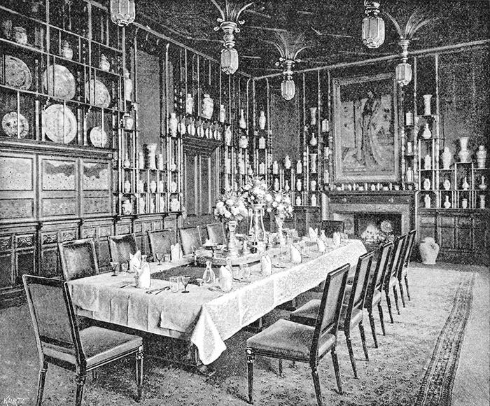 В столовой Лейланд желал выставить свою коллекцию китайского фарфора.