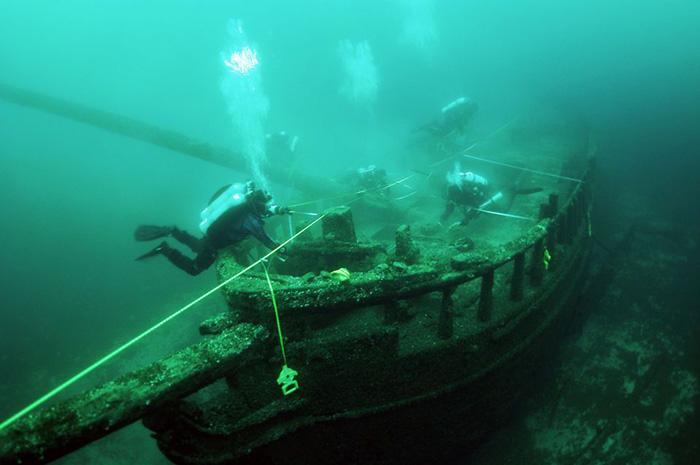 Во время исследования потерпевших кораблекрушение судов был обнаружен подводный Стоунхендж.