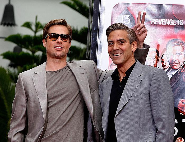 Брэд Питт и Джордж Клуни.