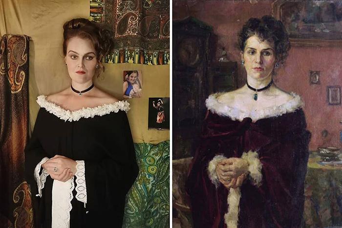 Харитон Платонов. Портрет женщины, 1903.