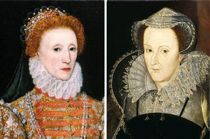 Елизавета Тюдор и Мария Стюарт.
