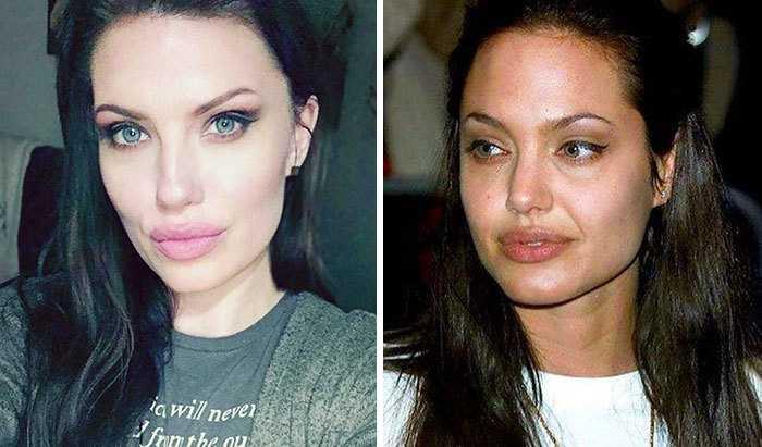 Анджелина Джоли и её двойник.