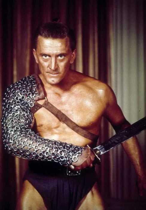 Кирк Дуглас на съёмках фильма «Спартак», 1960 год.