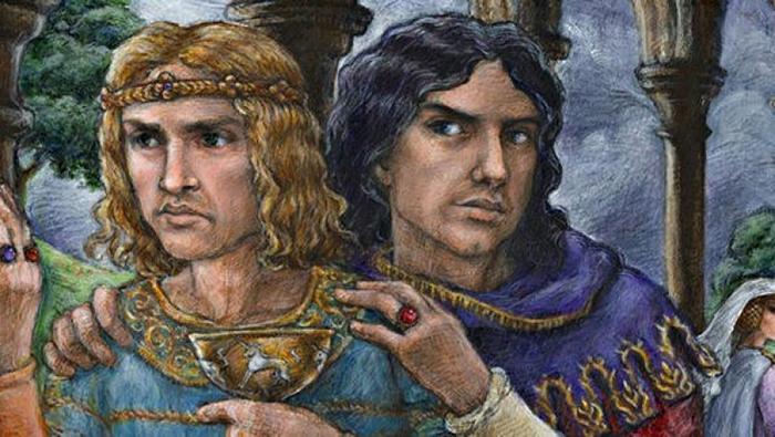 Эдуард и Пирс Гавестон.