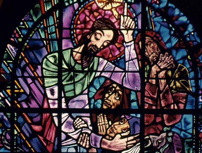Витраж в Кентерберийском соборе.