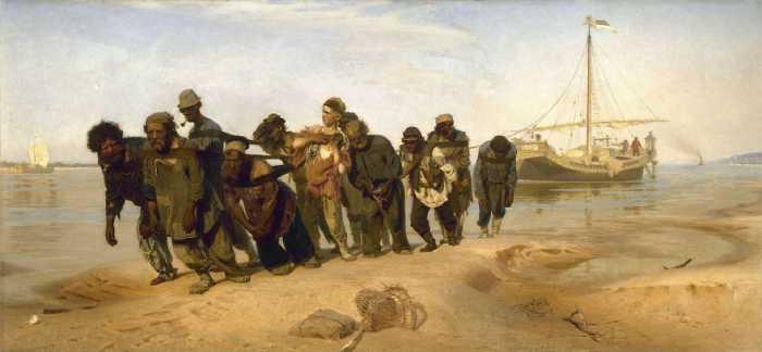 Бурлаки на Волге, Илья Репин.