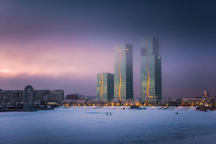 Было очень холодно, у Патрика замерзали руки, но он продолжал снимать эти чудесные городские пейзажи.