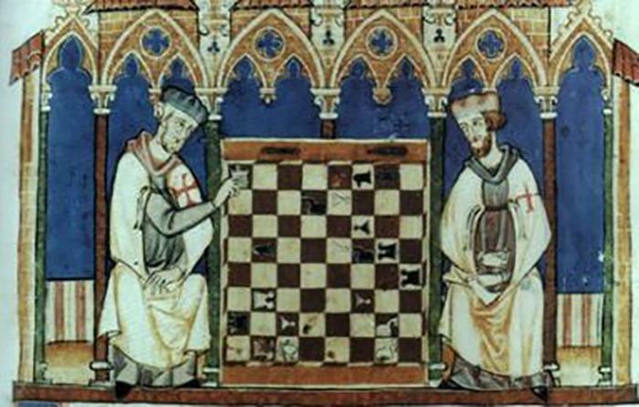 Средневековое изображение Великого магистра Ордена тамплиеров.