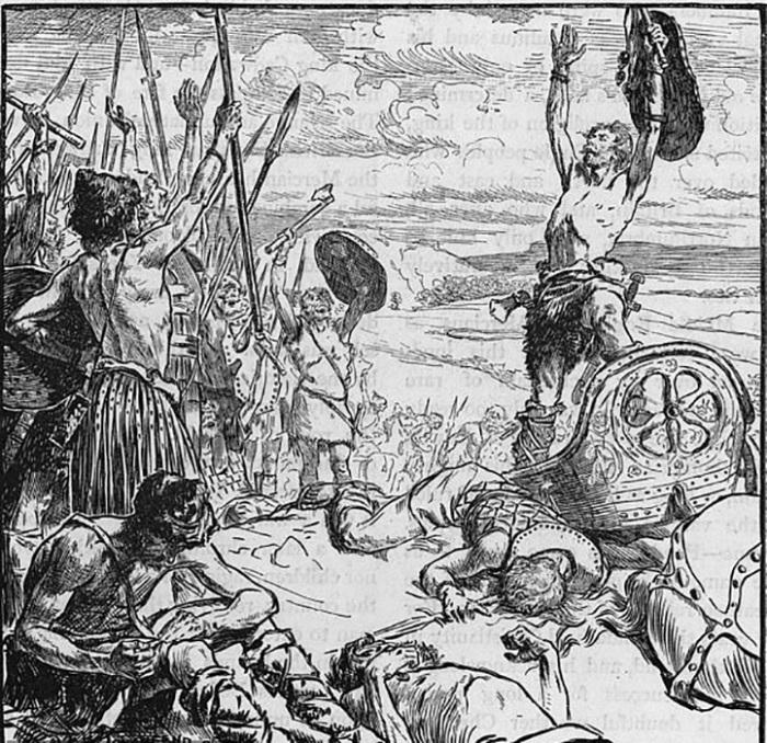 Язычники празднуют победу над христианским королём.