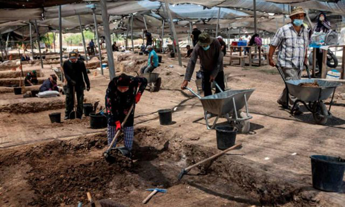 Подростки участвовали в археологических раскопках.