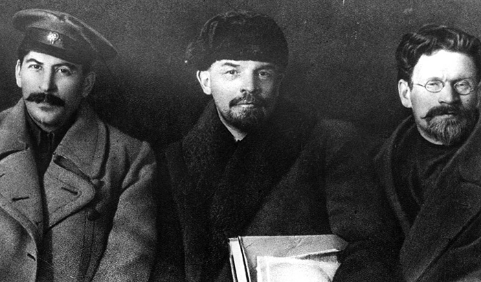 Сталин, Ленин и Троцкий.