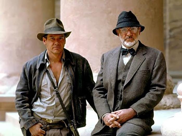 Харрисон Форд и Джон Коннери в фильме «Поиски утраченного ковчега», 1981 год.