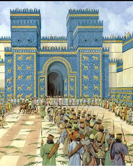 Ворота Иштар в Вавилоне.