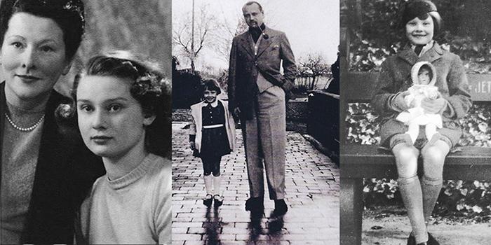 Маленькая Одри с мамой Эллой.