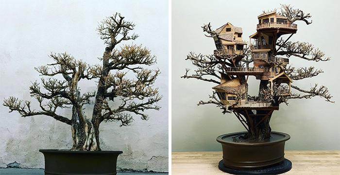 Кроме анимации талантливый художник занимался созданием настоящих миниатюрных чудес.