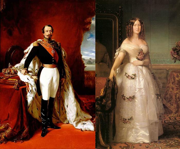 Император Наполеон III с женой Евгенией.