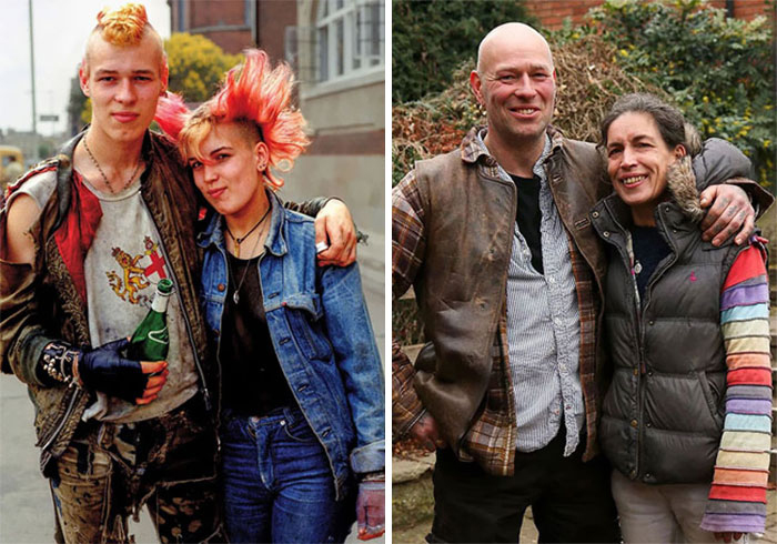Похоже, один был фанатом Flock of Seagulls, а другой - Sex Pistols.
