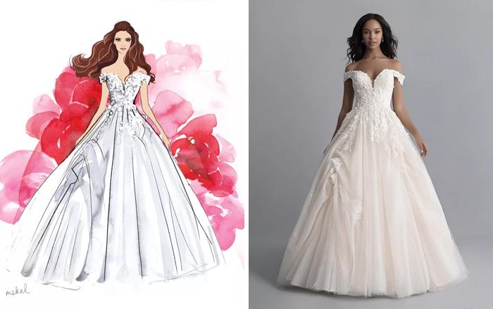 Свадебное платье Белль.
