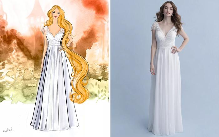Свадебное платье принцессы Рапунцель.