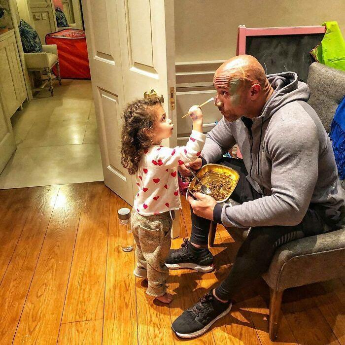 Скала и его дочь.
