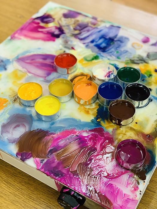Восковые краски.
