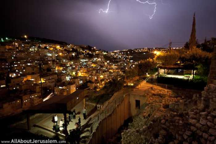 Город Давида ночью