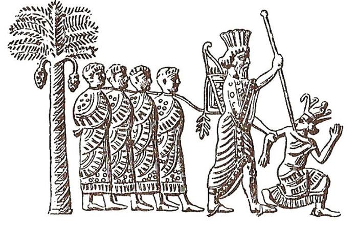 Камбиз запечатлел Псамметико (персидский рельеф).