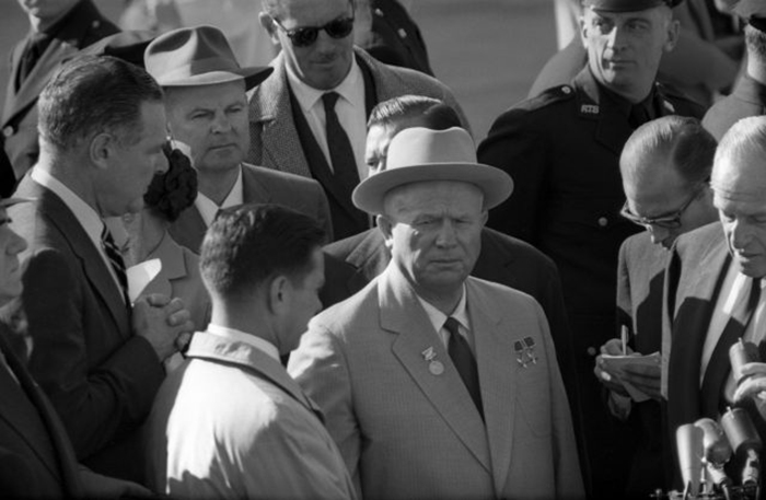 Хрущёв с журналистами, 19 сентября 1959 год.