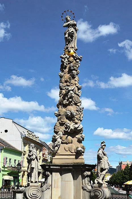 Чумная колонна в Кошице, Словакия.