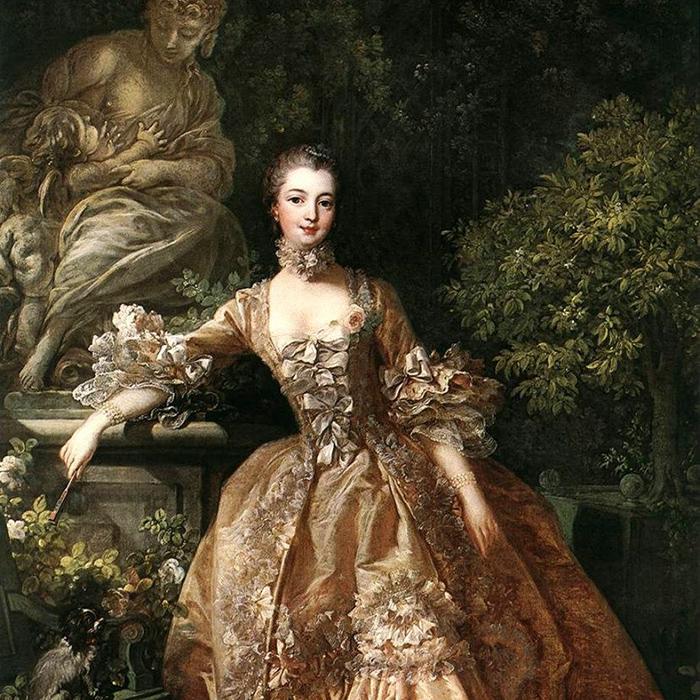 Екатерина Великая в юности.