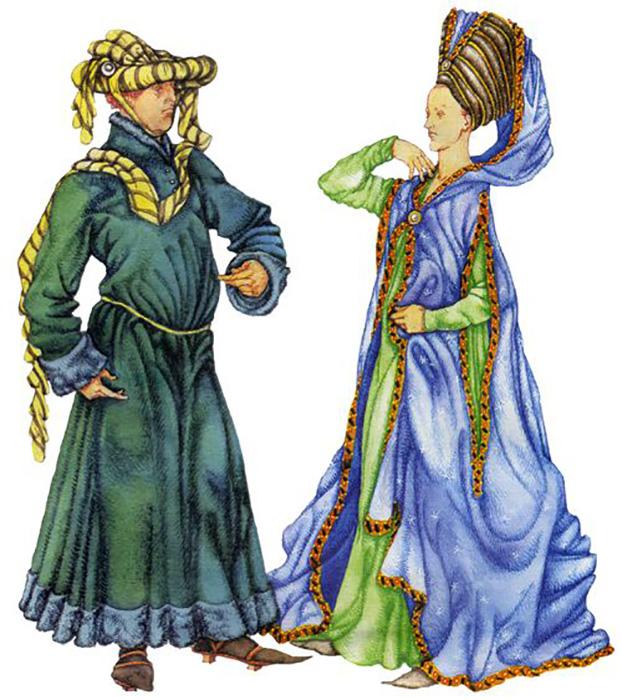 Средневековая мода.