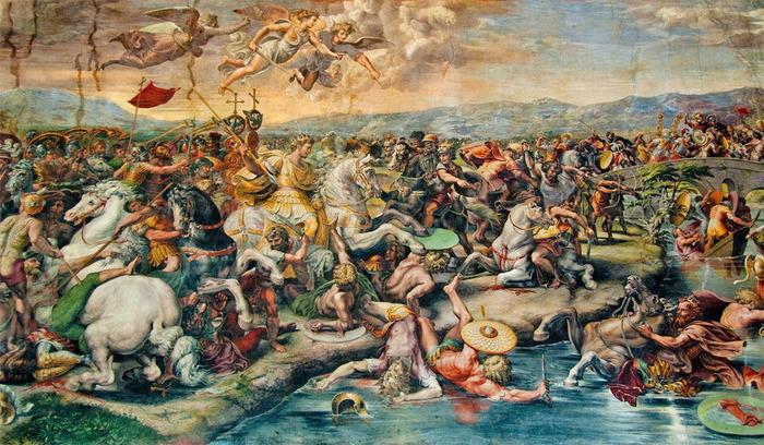 Битва на Мильвийском мосту, Джулио Романо (1520-1524).