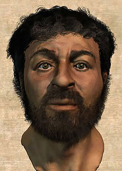 Лицо Иисуса, воссозданное доктором Нивом.