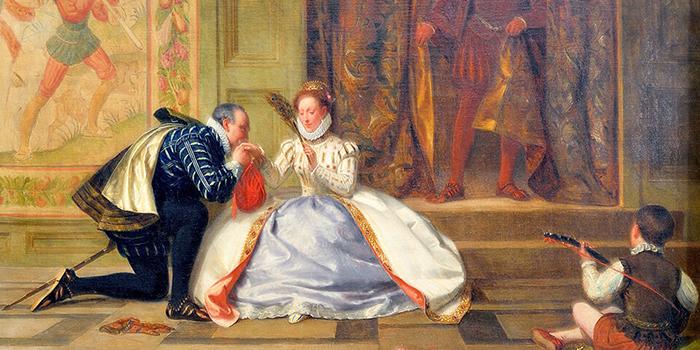 Королева и её верный друг Роберт.