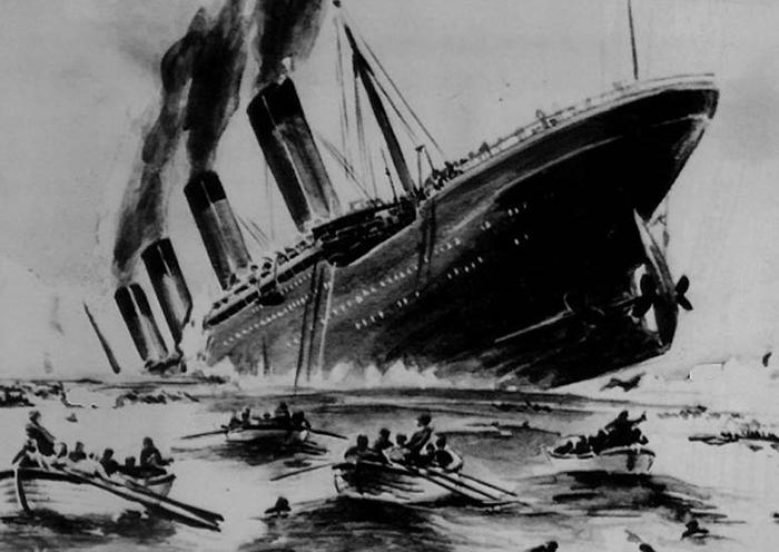Тонущий «Титаник».