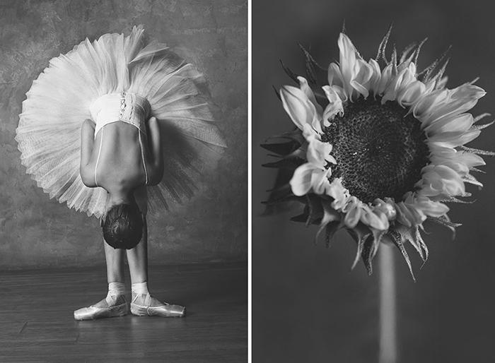 Героиней проекта фотохудожница избрала балерину Марину Мастыку.