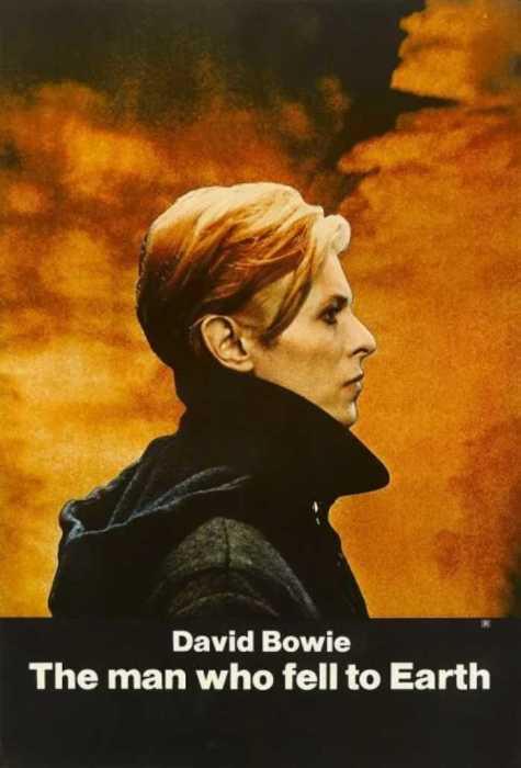 Плакат для фильма «Человек, который упал на землю», 1976 год.