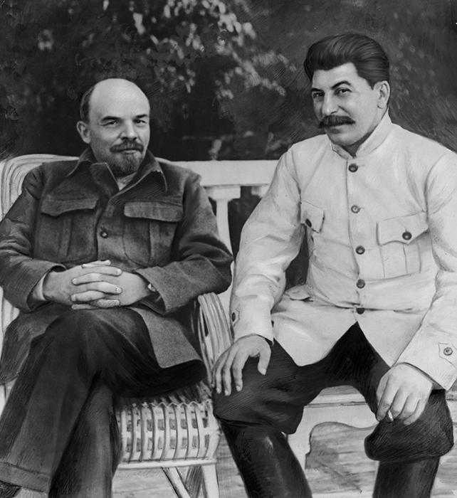 Иосиф Виссарионович Сталин и Владимир Ильич Ленин.