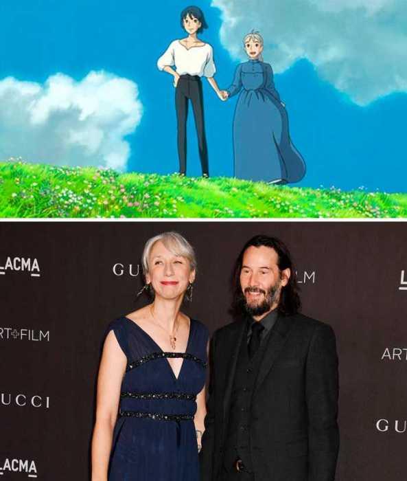 Актёр и художница смотрятся вместе так же мило, как и персонажи мультфильма «Ходячий замок».