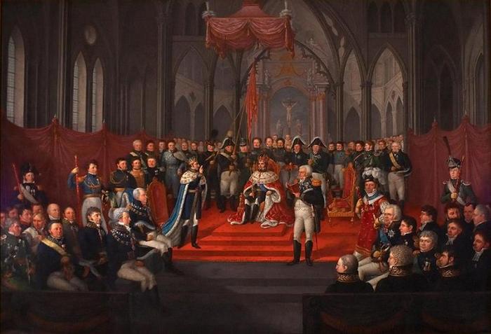 Коронация Жана-Юатиста Бернадота.