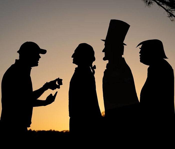 Селфи с тремя президентами.