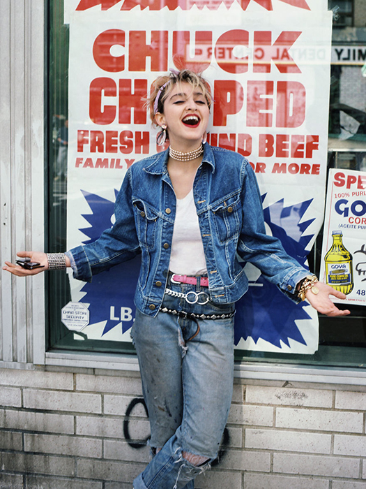 Старые улицы Нью-Йорка стали фоном для фотографий Мадонны.