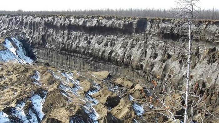 Края Батагайского кратера.