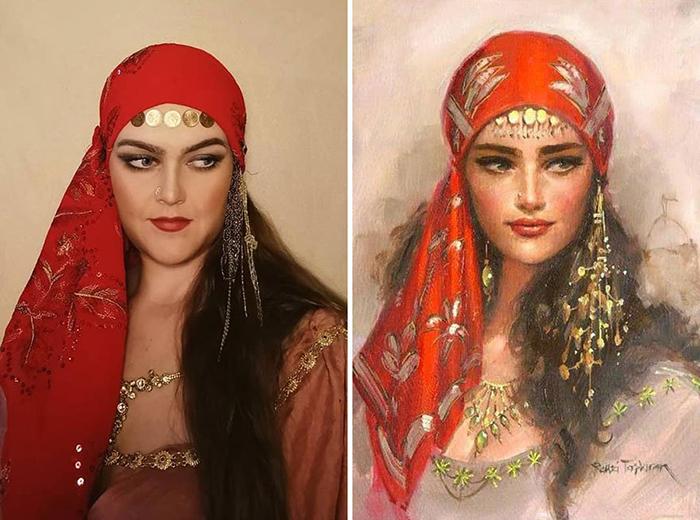 Ремзи Таскиран. Портрет девушки, 1961.