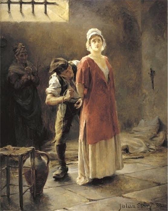 Шарлотта Корде перед казнью.