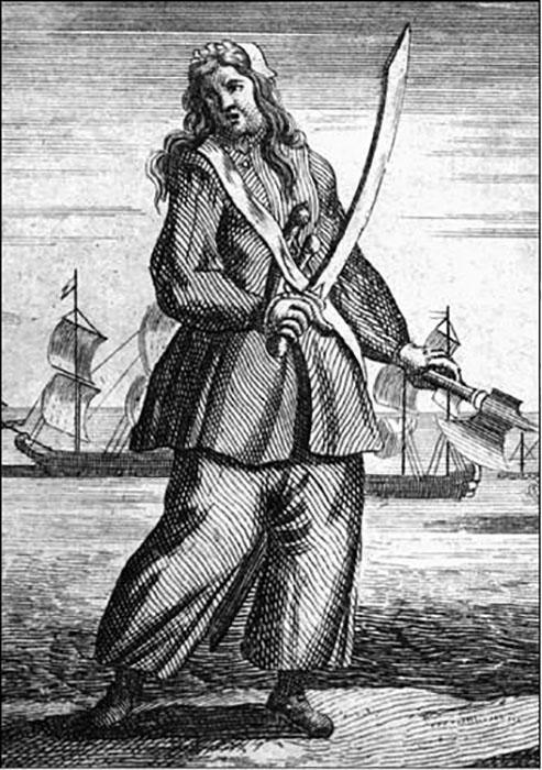 Энн Бонни. Гравюра 1720-х годов.