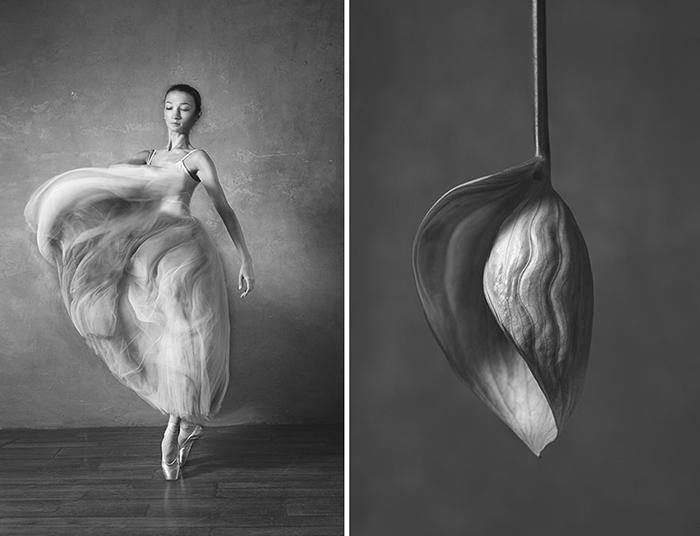 Форма цветка отражает настроение танца.