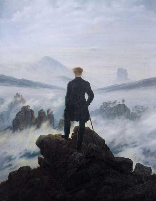 Странник над морем тумана, Каспар Давид Фридрих.
